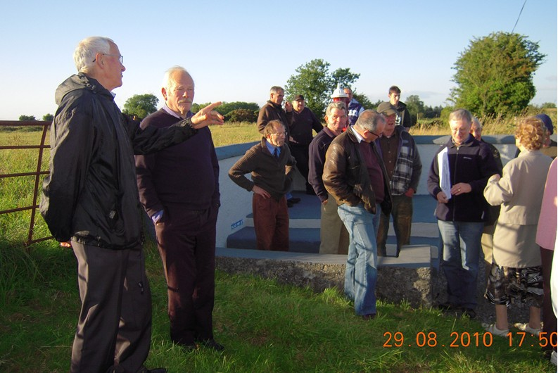 Local man Frank Mullen who toook us on the guided walk explaining the history of the pump. Michael Tarmey Moneen,Pat Patterson Islands, Jim Finnegan Liskea, Leo Finnegan Mrs Sally Hussey Curragh West Post Office