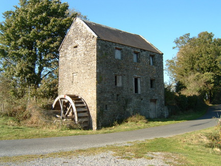 The mill prior to its restoration