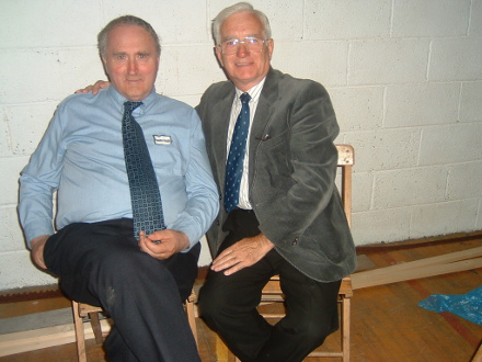 The late president of the Heritage Society Mickie Kearns, Ballyroe pictured with Martin Feeney Corrolough