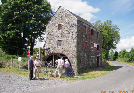The  mill in its conserved state with its new wheel