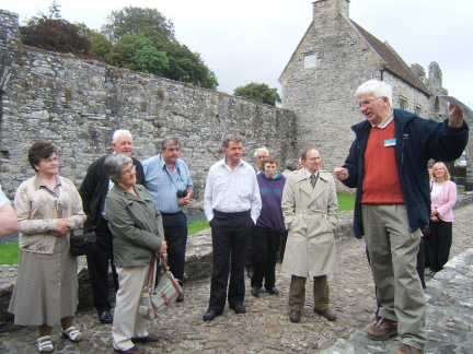 During the 2007 outing  Tony Conboy gives a guided tour of Boyle