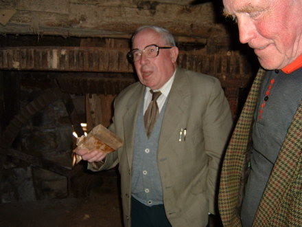Edward Egan of Drum speaking at Templetogher Mill with the late Michael Golden of Pollanyster